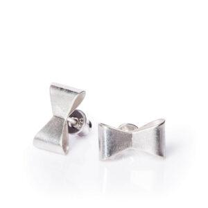 ALE. Kolczyki KOKARDKI (K/K -210x - AG), srebro