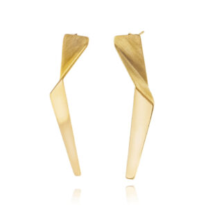 ALE. LANN earrings (L/K -3- AG/AU), gold-plated silver