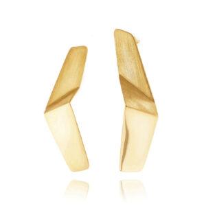 ALE. Kolczyki LANN (L/K -4- AG/AU), srebro złocone