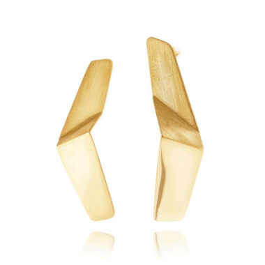 ALE. LANN earrings (L/K -4- AG/AU), gold-plated silver