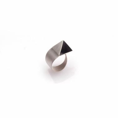 Origami Ring Ale Geometryczna Biuteria Autorska