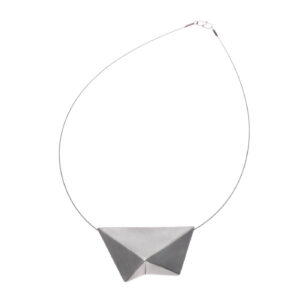 ALE. ORIGAMI necklace (O/N -21- AG), silver