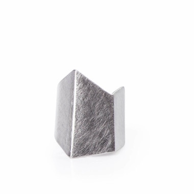 ALE. ORIGAMI ring (O/P -38- S), stainless steel