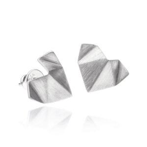 ALE. Kolczyki SERCA ORIGAMI (SO/K -110- AG), srebro