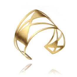 ALE. AIR bracelet (A/B -4- S/AU matte), gold-plated stainless steel