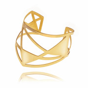 ALE. AIR bracelet (A/B -4- S/AU polished), gold-plated stainless steel
