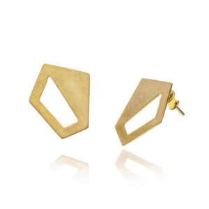 ALE. AIR earrings (A/K -5- AG/AU), gold-plated silver