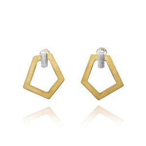 ALE. AIR earrings (A/K -6- S/AU), gold-plated stainless steel