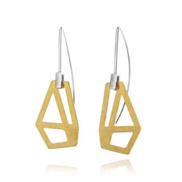 ALE. AIR earrings (A/K -7- S/AU), gold-plated stainless steel