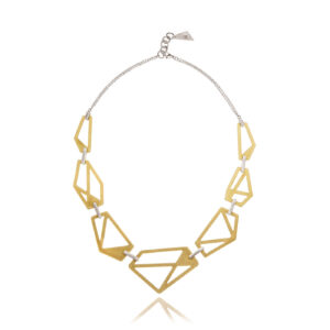 ALE. AIR necklace (A/N -2- S/AU), gold-plated stainless steel