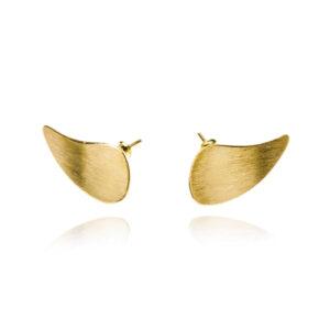 ALE. Kolczyki ELFY mini (B/K -10- AG-AU), złocone srebro