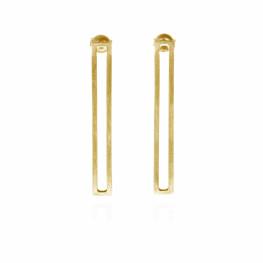 ALE. Kolczyki QUADRAT (Q/K -9- AU), srebro złocone