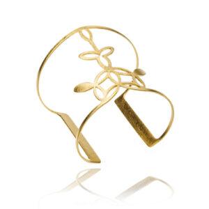 ALE. NEROLI bransoleta (N/B -1- S/AU mat), stal szlachetna złocona