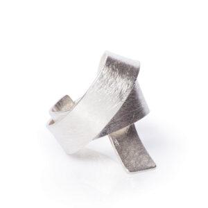 ALE. Pierścionek ZBIÓR Y (Y/P -405- AG), srebro