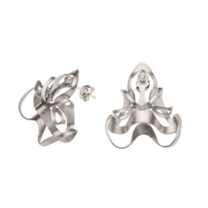 ALE. BIONIC earrings (B/K -11- S), stainless steel
