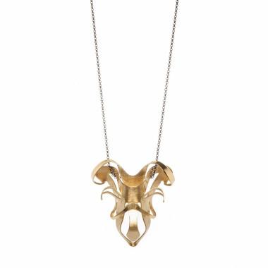ALE. BIONIC necklace (B/N -5- M), brass