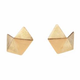 ALE. Kolczyki ORIGAMI (OK/K -116- AG/AU), srebro złocone
