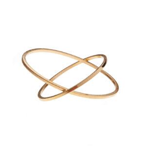 ALE. Bransoleta ELLIPSIS (E/B -3- AG/AU), srebro złocone