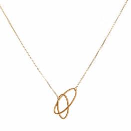 ALE. Naszyjnik ELLIPSIS (E/N -4- AG/AU), srebro złocone