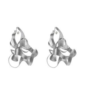 ALE. BIONIC earrings (B/K -14- S), stainless steel