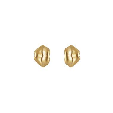 ALE. Kolczyki CZUŁE SŁÓWKA (C/K -7- AU), srebro złocone
