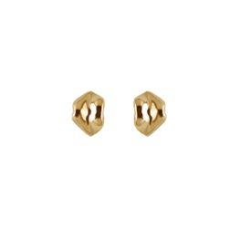 ALE. Kolczyki CZUŁE SŁÓWKA (C/K -8- AU), srebro złocone