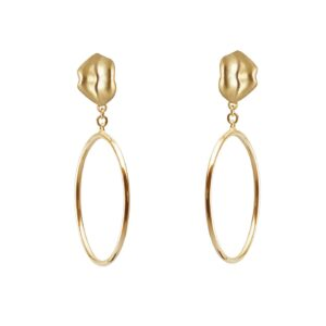 ALE. KISS earrings (C/K -6- AU), gold-plated silver