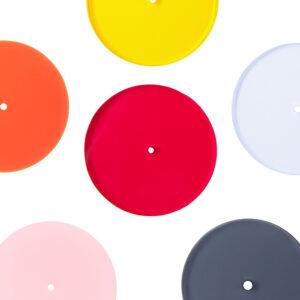 kolczyki SATELLITE średnie zawieszki 6 kolorów