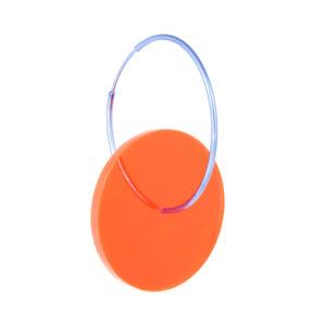 kolczyk SATELLITE spodek pomarańczowy duży